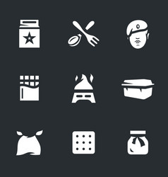 set of amy food ration icons vector image