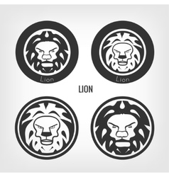 Set of lions vector