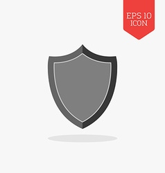 Shield icon Flat design gray color symbol Modern vector image