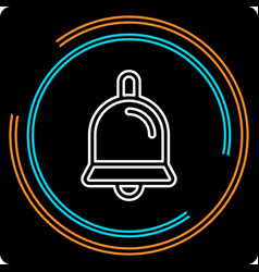 simple bell thin line icon vector image