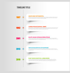 simple timeline template with white labels vector image