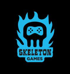 skeleton games logo vector image