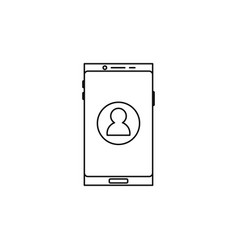 Smartphone contact icon vector