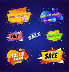 special price sale banner abstract design vector image