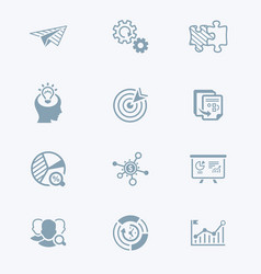 startup business icons - tech series vector image vector image