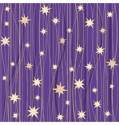 Stripy pattern with stars vector