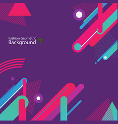 stylish of purple colorful space background design vector image