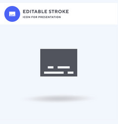 subtitles icon filled flat sign solid vector image
