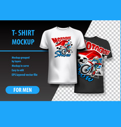 T-shirt template fully editable with motocross vector