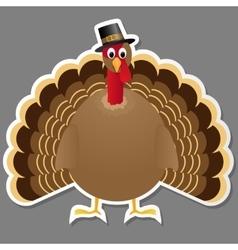Thanksgiving turkey bird isolated on grey vector