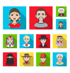 The human race flat icons in set collection for vector