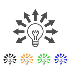Ultraviolet lamp flat icon vector