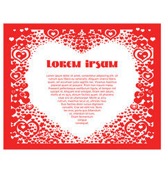 Valentines day post card 6 vector