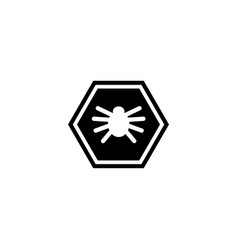 virus microbe bacteria flat icon vector image