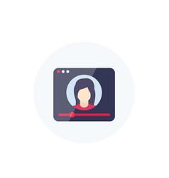 Webinar online web seminar training icon vector