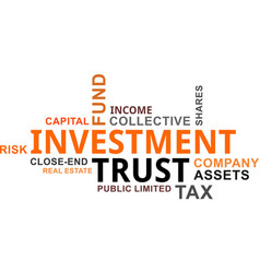 word cloud - investment trust vector image