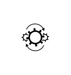 Workflow gears with arrows icon vector