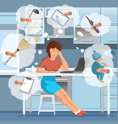 working mother vector image