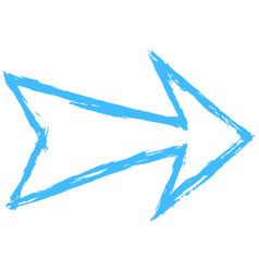 arrow symbol drawing sketch vector image
