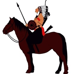 Brave Indian Warrior vector image