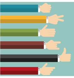 Hands Collection vector image vector image