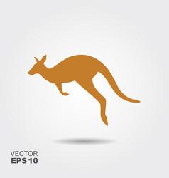 kangaroo icon simple flat symbol vector image vector image