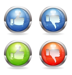 Like Unlike Button vector image vector image