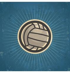 Retro Volleyball vector image vector image