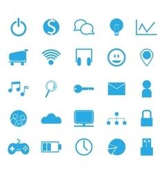 SEO technology icon set vector image