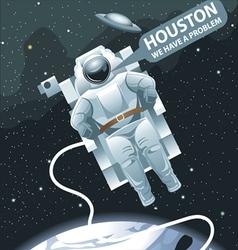 Astronaut in spacesuit flying in space vector image vector image