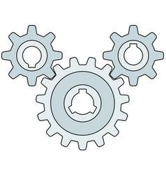 gear wheel transmission vector image vector image