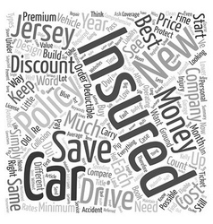 How To Save Money And Get Discount Car Insurance vector image