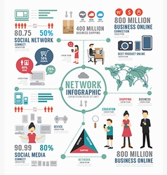 Infographic social network template design vector image vector image