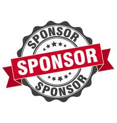 sponsor stamp sign seal vector image