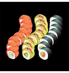 sushi dragons vector image vector image