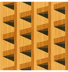 wooden blocks vector image vector image