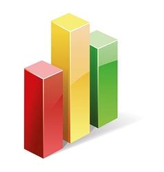 3d bar graph vector