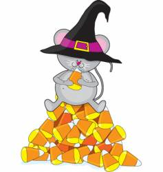 Candy corn mouse vector