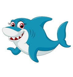 Comical shark character vector image vector image