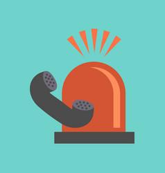 flat icon on stylish background phone alarm lamp vector image
