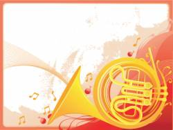 jazz horn graphic vector image
