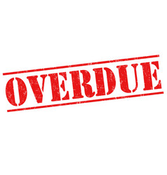 overdue grunge stamp vector image