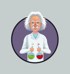 scientist physical with test tube laboratory vector image vector image