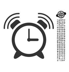 Alarm clock ring icon with professional bonus vector
