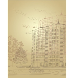 architectural urban background vector image vector image