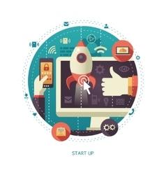 flat design start up business vector image vector image