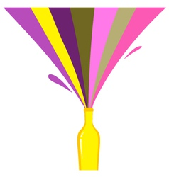 rainbow bottle splash vector image vector image
