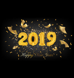 2019 happy new year greeting card background vector image