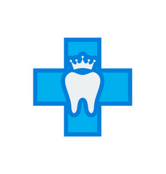abstract medical dental clinic icon vector image