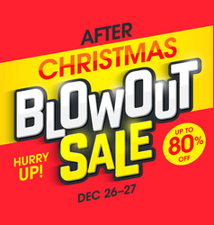 After christmas blowout sale banner vector